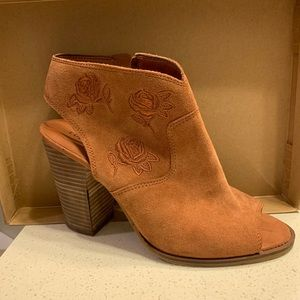 Lucky Brand Suede Booties - Size 10